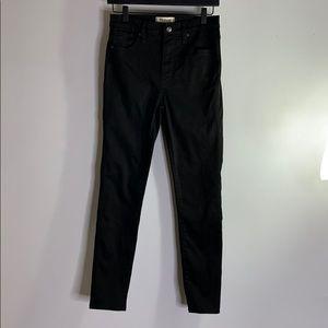 "Madewell 10"" high-rise skinny black jeans"